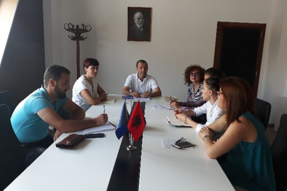 Meeting with the Mayor of Shijak Municipality for introducing the project